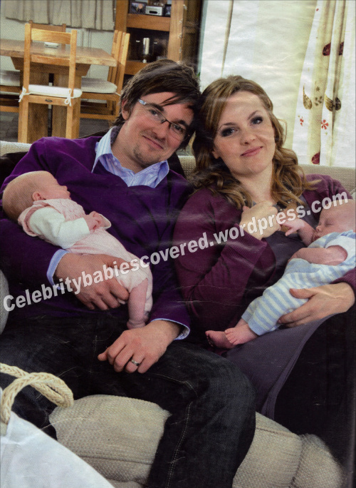 Jo Joyner and Neil Madden Introduce Twins Freddie And Edie ...